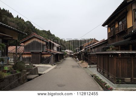 Townscape of Omori zone in Iwami ginzan silver mine Shiname Japan