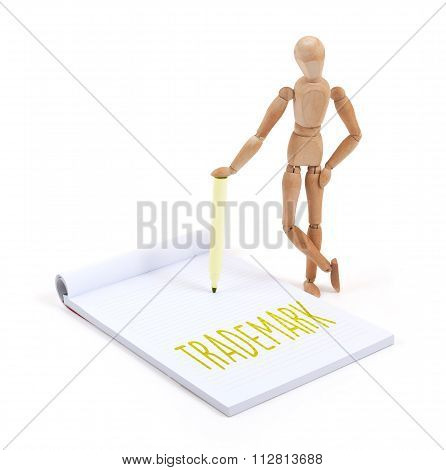 Wooden Mannequin Writing - Trademark