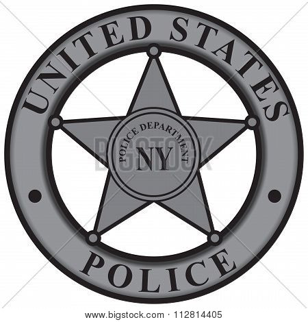Badge New York Police Department