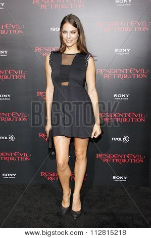 LOS ANGELES, CALIFORNIA - September 12, 2012. Julia Voth at the Los Angeles premiere of 'Resident Evil: Retribution' held at the Regal Cinemas L.A. Live, Los Angeles.