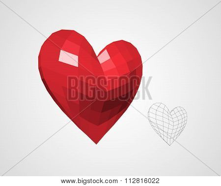 Heart from Squares