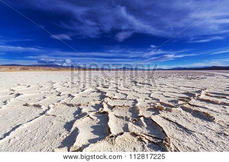 salt desert in the Jujuy Province, Argentina
