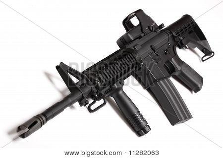 Постер, плакат: Оружие современной армии M4 Карабин Ris , холст на подрамнике