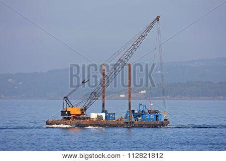 Crane on a Barge