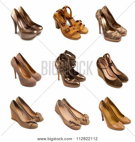 Beige-brown Female Shoes
