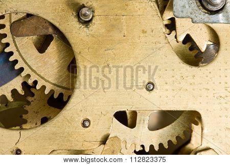 Inside Of Alarm Clock Mechanism