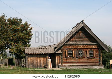Old wooden house in Suzdal Russia