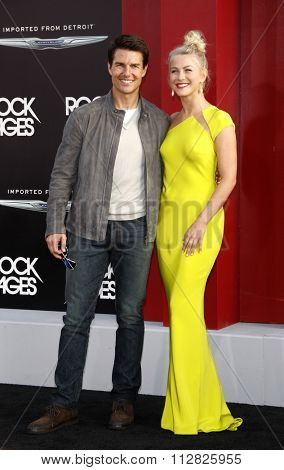 Tom Cruise and Julianne Hough at the Los Angeles premiere of