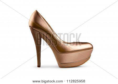 Golden Female Shoe