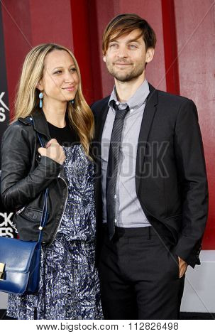 Tobey Maguire and Jennifer Meyer at the Los Angeles premiere of