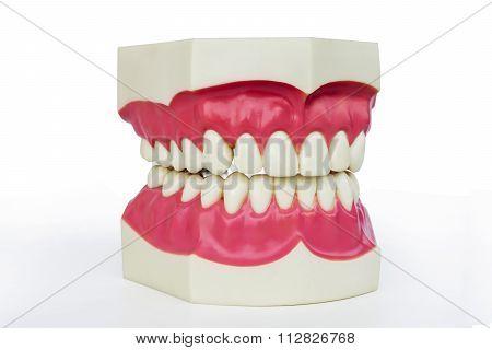 Plastic dentures