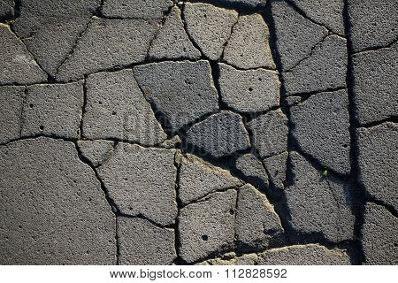 Grey Cracked Asphalt