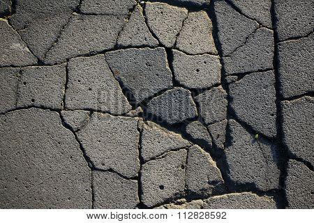 Grey Cracked Asphalt