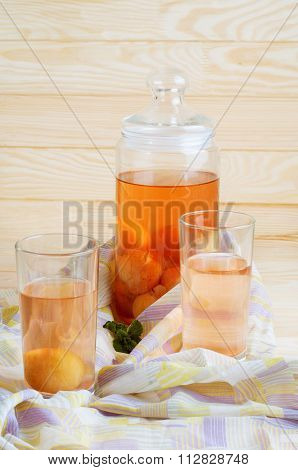 Compote Made Of Stewed Peaches