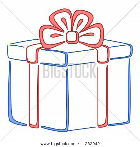 Gift box square, pictogram