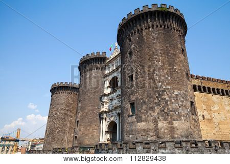 Castel Nouvo Is A Medieval Castle Naples, Italy