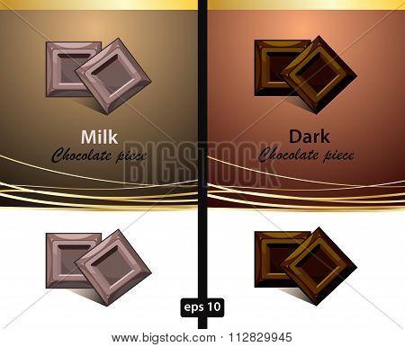 Chocolate template. Brown chocolate