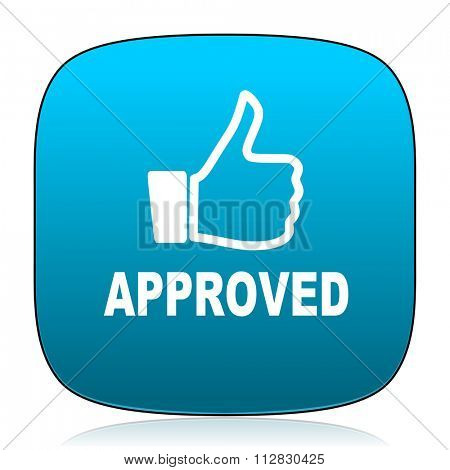 approved blue icon