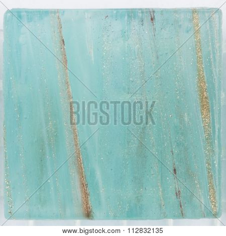 Turquoise Mosaic Of Brilliant Aventurine