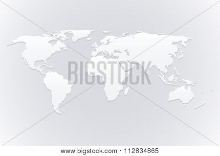 Stock Vector 3d map of the world