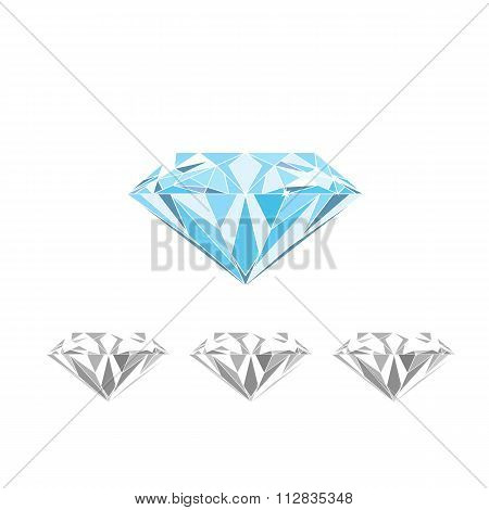 Isolated large blue Diamond vector
