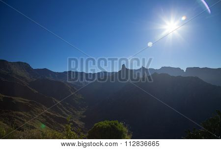 Inland Central Gran Canaria, Sunrise At Acusa Seca