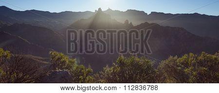 Inland Central Gran Canaria, Sunrise Over Roque Bentayga