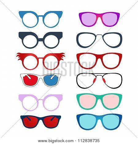 Set of Color Eyeglasses