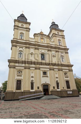 Ascension Cathedral Of The Greek-catholic Church. Ivano-frankivsk, Ukraine