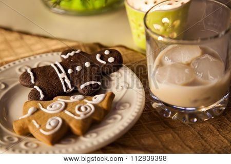 Pretty Gingerbread On The Table