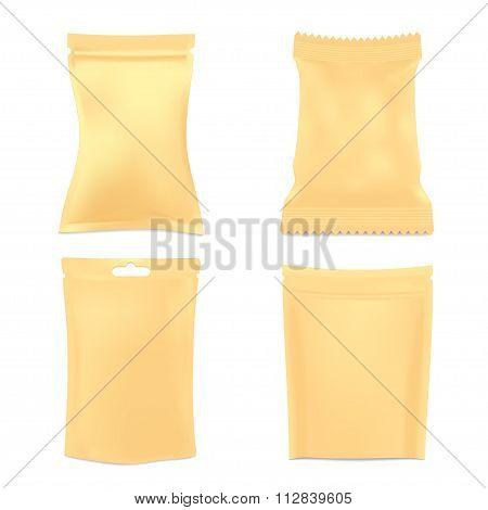 Set of Golden Foil Packaging