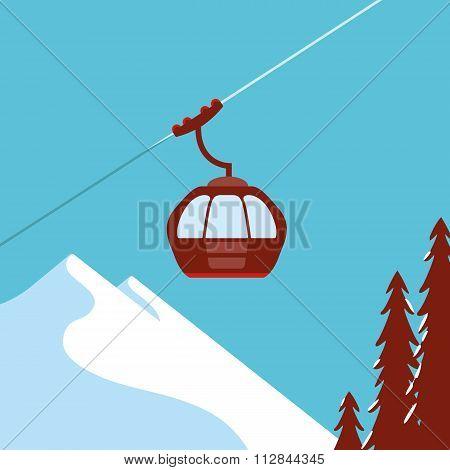 Ski Lift Gondola Snow Mountains