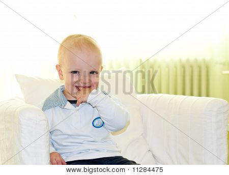 Kid Biting His Finger