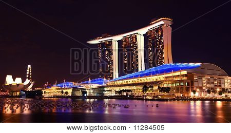 Singapore Marina Bay Sands By Night