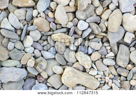 Rounded stones