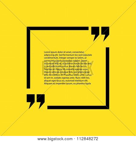 Stock quote the text on a yellow background