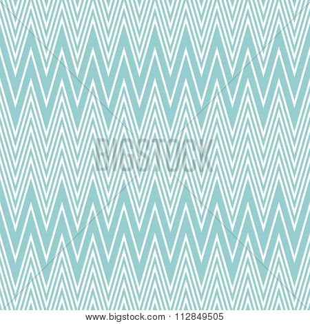 Elegant Seamless Pattern Of White And Blue Horizontal Zigzag