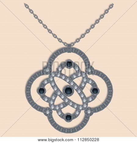 Brilliant Necklace Vector
