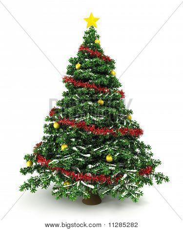 Christmas tree star effect