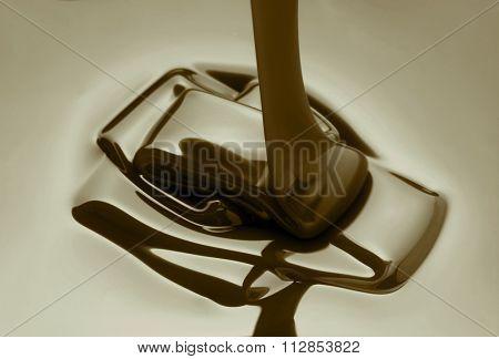 melted dark chocolate
