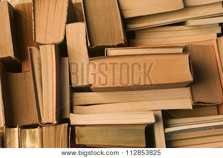 a lot of books view from above