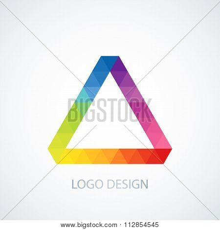 Vector illustration of logo Triangle.
