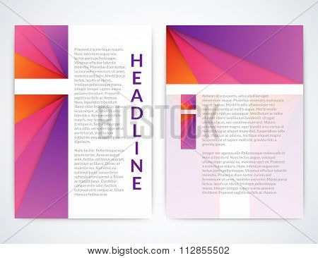 Vector illustration of a colorful brochure