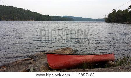 Lonely canoe