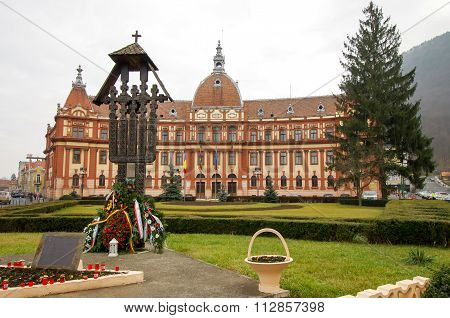Brasov, Romania - December 26, 2015: County Council Building.