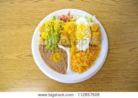Burrito combo plate