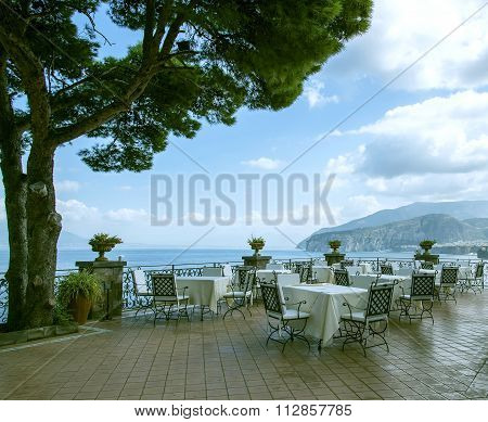 Italy. Cosy restaurant on the seafront