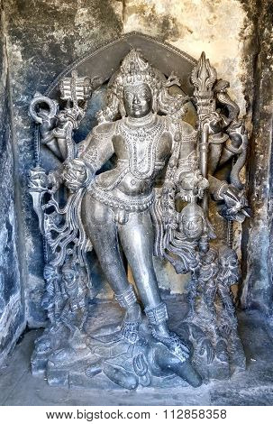 Lord Bhairava statue of Chennakesava temple in Belur, Karnataka, India taken on December 30th, 2015
