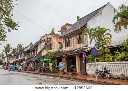 Luang Prabang, Laos - Circa August 2015: Streets Of Luang Prabang,  Laos