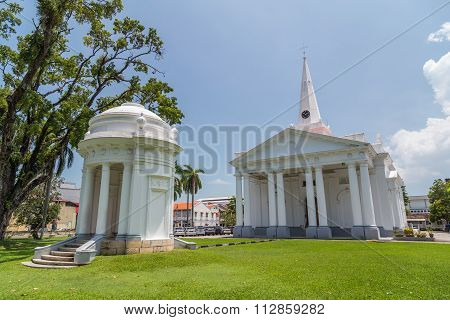 Georgetown, Malaysia - Circa August 2015: St. George's Church In Georgetown, Penang,  Malaysia
